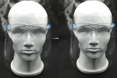 Face Shield with glass