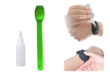 Refillable hand sanitizer wristband
